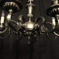 French Brass Silver Plated 8 Light Chandelier (8 of 10)