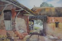 Vintage Original Watercolour - Old Barns & Countryside - A Millin (2 of 4)