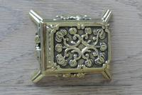 Fine Small Aesthetic Movement Brass Inkwell c.1890 (5 of 7)