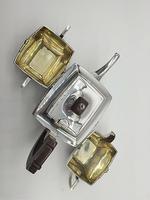 Superb Indian Art Deco Sterling Silver Tea Set Bartons Bangalore Heavy Gauge (6 of 8)