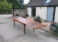 Large Extending Cherrywood Farmhouse Table (3 of 12)