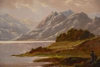 """Oil Painting Pair by Charles Leslie """"Mountain Landscapes"""" (6 of 9)"""