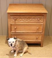Small Limed Oak Chest of Drawers (7 of 10)