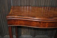 Chippendale Serpentine Mahogany Card Table (7 of 10)