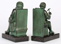 Max Le Verrier Pair Art Deco Patinated Bronze The Cobbler & The Financier Bookends (15 of 18)