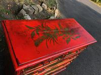 Antique Lacquered Chinoiserie Chest of Drawers (6 of 11)