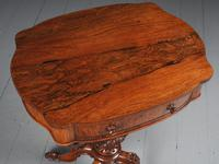 Victorian Rosewood Work Table / Occasional Table (3 of 9)