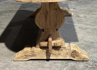 Large Rustic French Bleached Oak Farmhouse Dining Table (24 of 40)
