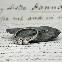 The Antique Old European Cut Three Diamond Ring (5 of 6)