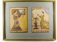 Art Deco Lithographic Print 'Sweet Maids'