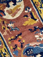 Antique Chinese Ningxia Rug 1.61m x 0.74m (6 of 9)