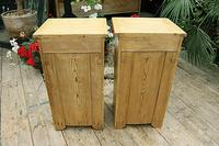 Nice Quality Old Stripped Pine Bedside Cabinets (9 of 9)