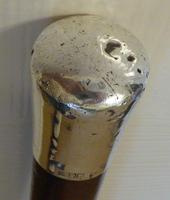 Rare Irish Walking Stick Cane 1901 Hallmarked Silver Pommel Malacca Wood Shaft (9 of 10)