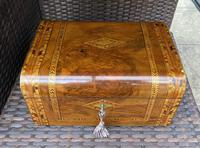 Victorian Inlaid Walnut & Tunbridge Ware Jewellery Box (13 of 14)