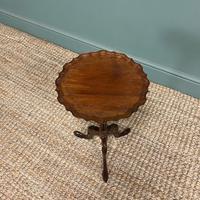 Edwardian Antique Walnut Pie Crust Edge Occasional Table (6 of 6)