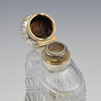 Victorian Sterling Silver & Cut Glass Spirit Hip Flask (3 of 10)