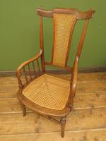 Unusual Antique Bentwood Chair with Caned Seat & Back (15 of 17)