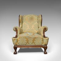 Antique Wing-Back Armchair, English, Fireside, Lounge, Seat, Edwardian, 1910 (10 of 12)