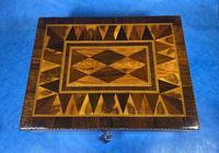 George III Rosewood Tunbridge Ware Box with Specimen Wood Inlay (2 of 15)