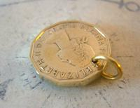 Vintage Pocket Watch Chain Fob 1966 Queen Elizabeth Threepenny 3d Coin Fob (6 of 7)