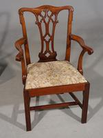 Attractive Early 20th Century Set of 7 '6+1' Chippendale Style Mahogany Framed Chairs (5 of 7)