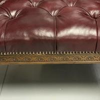 Pair of 19th Century Buttoned Leather Armchairs with Grifins (9 of 11)