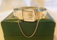 "Vintage Sterling Silver Buckle Bangle 1976 Original Box 7"" Length 24.4 Grams (2 of 12)"