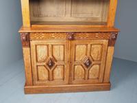 Antique Victorian Golden Oak Open Bookcase (14 of 20)