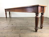 Long Victorian Mahogany Hall Bench (10 of 11)