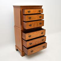 Antique Burr  Walnut Chest on Chest of Drawers (8 of 11)