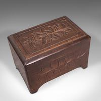 Small Antique Music Box, French, Beech, Jewellery Tray, Edwardian c.1910 (7 of 12)