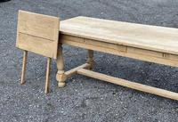Large Bleached Oak Farmhouse Dining Table with Extensions & Storage (4 of 35)