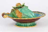Minton Majolica Pottery Pedestal Chestnut Dish Dated 1867 (11 of 14)