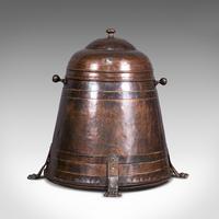 Antique Beehive Fireside Store, Copper, Fire Bucket, Coal Bin, Victorian c.1850 (7 of 12)