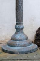 Middle Eastern patinated brass jardinière pedestal stand (4 of 11)