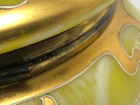 Antique Art Nouveau Loetz Art Glass Round Gilt Floral Trinket Box (20 of 33)