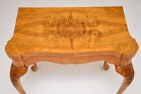 Antique Queen Anne Style Burr Walnut Card Table (8 of 11)