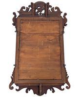 George III Period Mahogany Fret Frame Mirror (4 of 4)