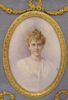 Edwardian Miniature Portrait Ormolu Frame Jeanie Boyle 1913 (2 of 5)