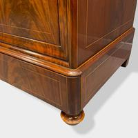 Exceptional Quality Inlaid Marble Top Commode (4 of 12)