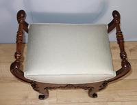 Carved Mahogany Piano Stool (3 of 5)