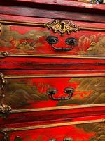 Antique Lacquered Chinoiserie Chest of Drawers (5 of 11)