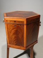 Good George III Period Hexagonal Mahogany Wine Cooler (5 of 6)