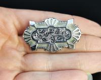 Victorian Silver Demi Parure, Earrings & Brooch (14 of 14)