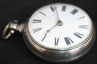 Antique Silver Pair Case Pocket Watch Fusee Verge Escapement Key Wind Enamel P Edmonds Liverpool (8 of 10)
