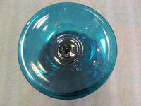 Fine Quality 19th Century Turquoise Glass Pedestal Bowl (3 of 5)