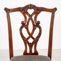 Set of 8 Mahogany Chippendale Style Dining Chairs (12 of 17)
