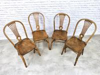 Set of 4 Windsor Kitchen Chairs with Unusual Back-rest Style (3 of 7)