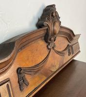 Antique French Pediment Walnut Panel Architectural Salvage Ceil De Lit (3 of 9)