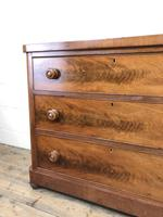 Victorian Mahogany Chest of Three Drawers (12 of 14)